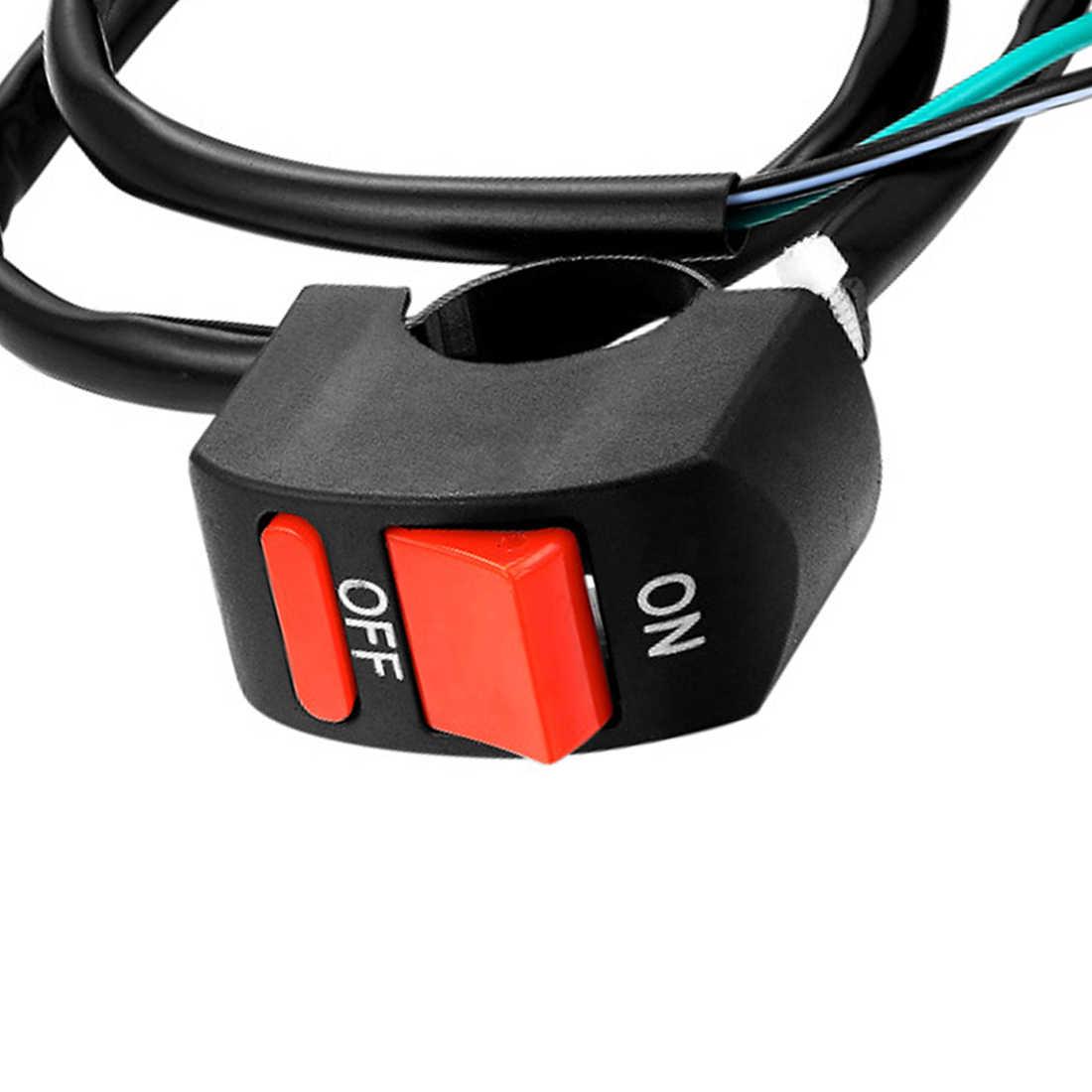 Universal Motorcycle Handlebar Fog Light Switch ON-OFF Button Switch 12VDC For U2 U5 U7 U8 LED Head Lamp Angel Eye Light