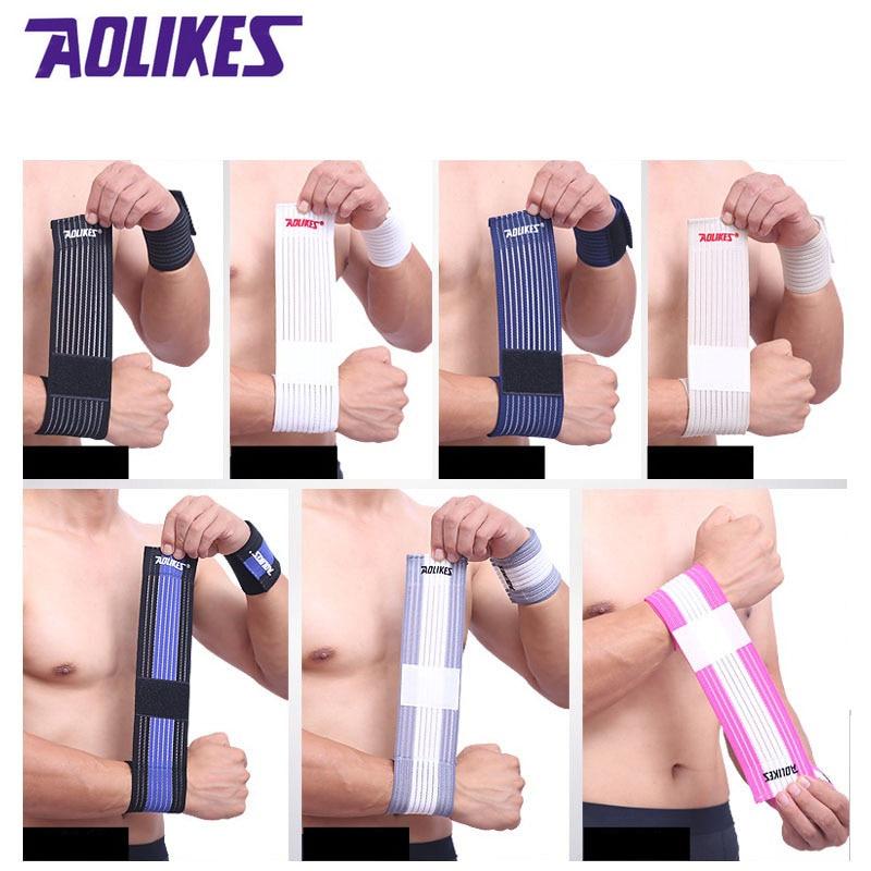 Браслет AOLIKES для мужчин и женщин, 1 шт., эластичный ремешок для запястья, для фитнеса, для спорта, тренажерного зала, защита для запястья