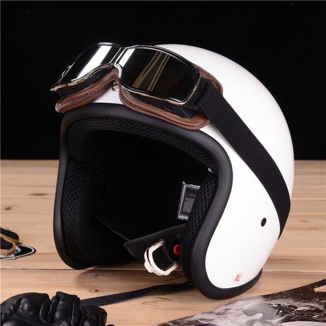 VOSS latest retro universal folding leather goggles vintage motorcycle goggles jet pilot sunglasses