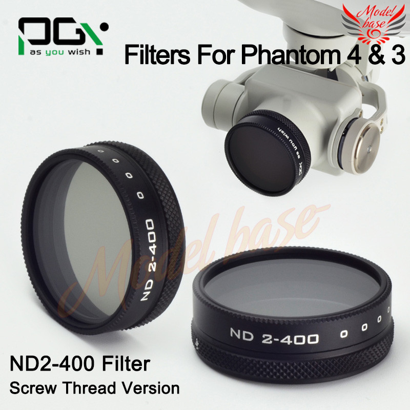 2016 NEW PGY DJI phantom4/phantom3 Lens Filter ND2-400 screw thread version Quadcopter drone Gimbal Camera parts accessories