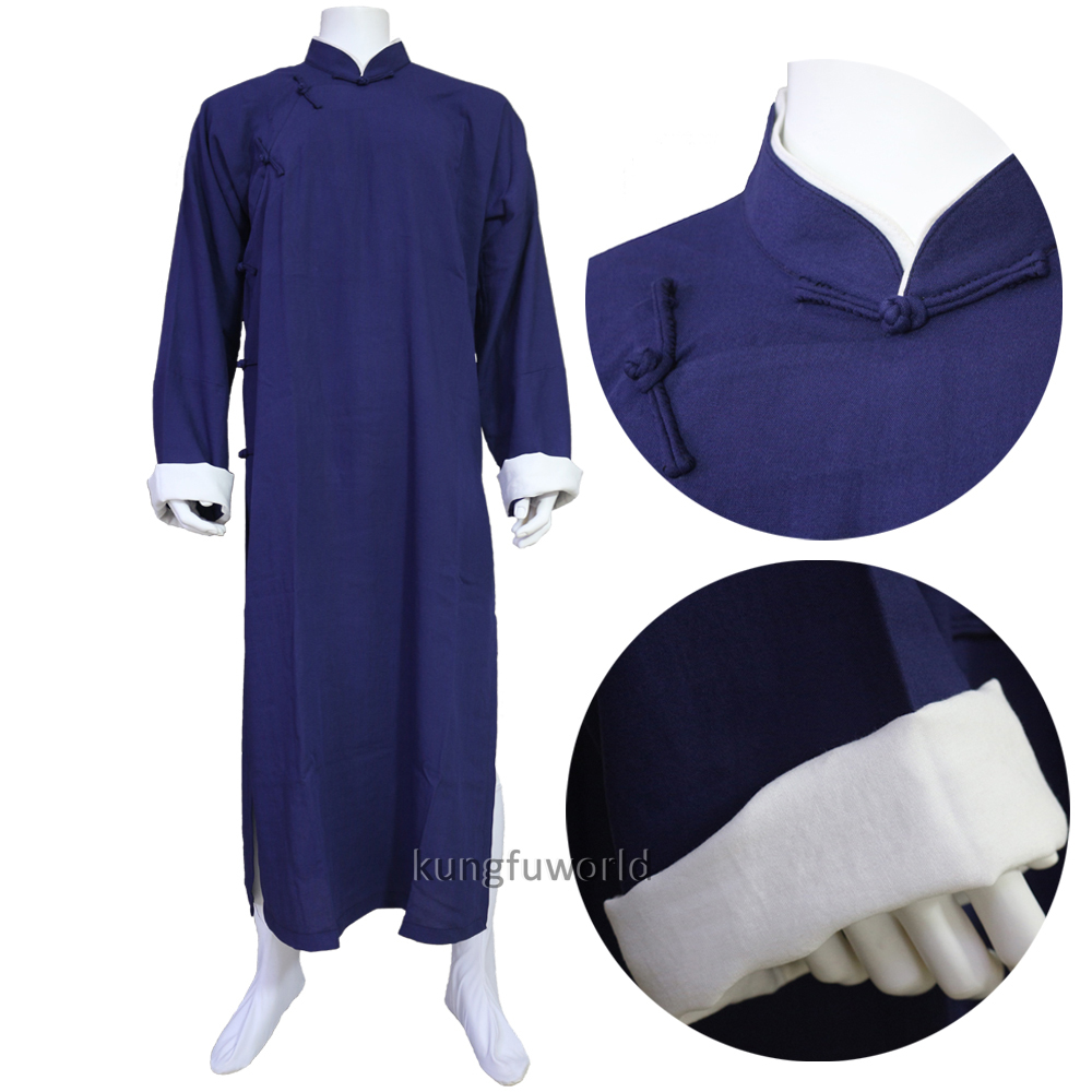 24 Colors Linen IP MAN Kung Fu Robe Wing Chun Tai Chi Suit Shaolin Monk Taoist Martial Arts Uniforms