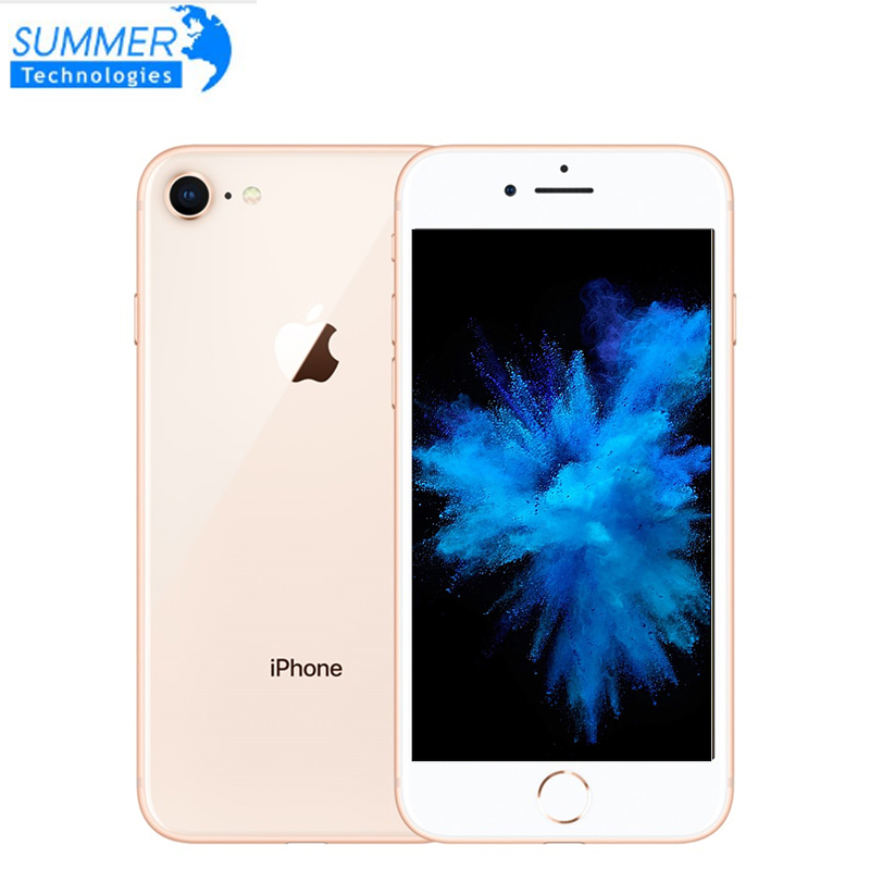 "Used Smartphone Original Apple iPhone 8 LTE Mobile Phone  4.7"" 12.0MP Hexa Core 2GB RAM  Unlocked iOS  Fingerprint(China)"