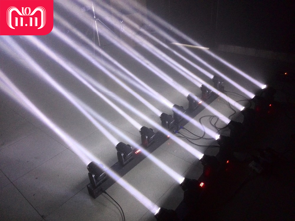 2xlot 4heads 80w led mini beam moving head bar light professional stage dj lighting dmx. Black Bedroom Furniture Sets. Home Design Ideas