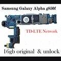 Alta calidad original desbloqueado placa base placa base oficial para samaung galaxy alpha g850f con imie una por una prueba