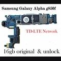 Alta qualidade original desbloqueado motherboard mainboard com imie oficial para samaung galaxy alpha g850f um por um teste