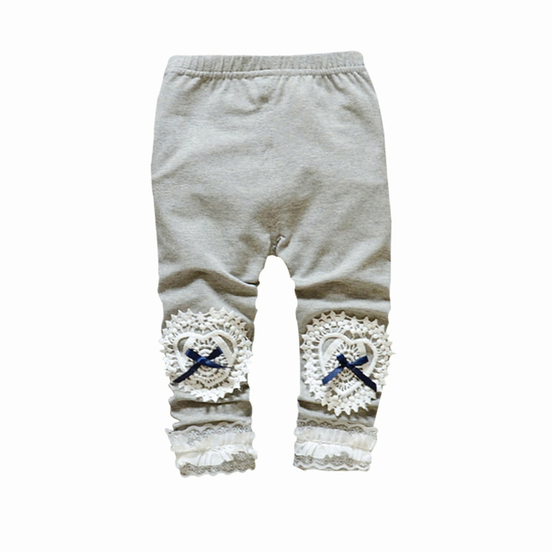 Bow Lace Girls Pants Infant Trousers Cotton Print Toddler Outwear Spring Summer Baby Legging Girl Outfits Baby Girl Clothing