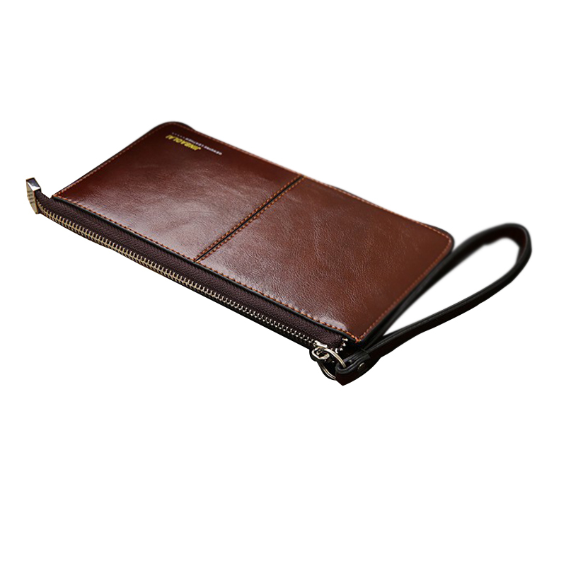 Brand men's wallet Zipper genuine leather purse  Clutches wallets phone bag ID card  holder coin purses Pockets Clutch Center luxury brand women wallets business wallet long designer double zipper leather purses id card holder purse phone case clutch