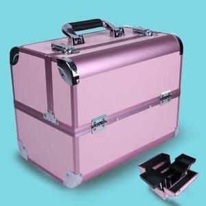 Image 2 - Sacchetto cosmetico portatile di valigie di trucco di bellezza professionale multi funzione cosmetologia del sopracciglio del tatuaggio insegnante manicure caso