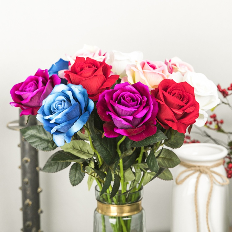 Single Artificial Flowers Fake Rose for Valentine\'s Day Gift Home ...