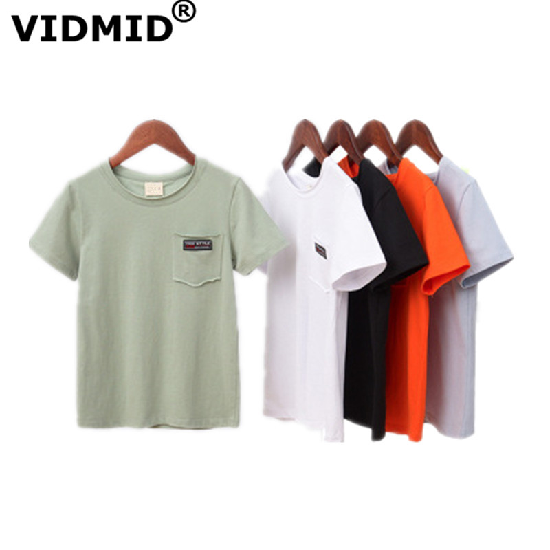 VIDMID Children 7072 T-Shirts Tops Tees Short-Sleeve Teenage Boys Kids Summer Casual