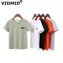VIDMID/летние футболки для мальчиков от 2 до 14 лет детская одежда с короткими рукавами для подростков повседневные футболки для больших мальчиков топы для 7072 01