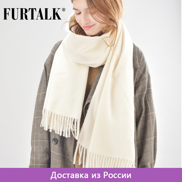 FURTALK women wool winter scarf cashmere poncho scarves luxury brand for girls SFFW006