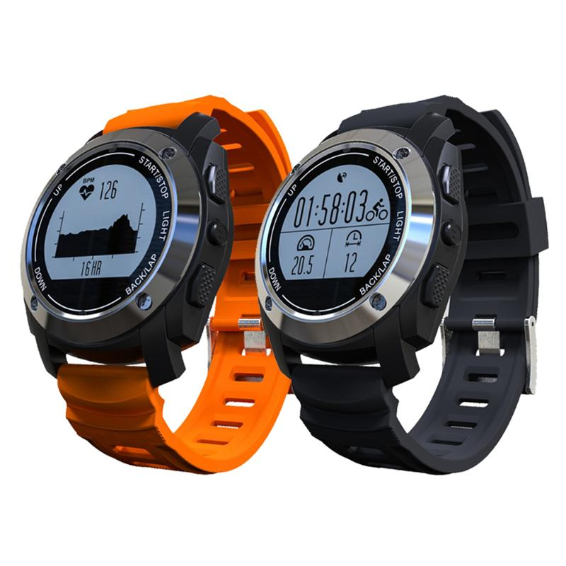 Professional Outdoor Sports GPS Tracker Bluetooth Smart Watch Heart Rate Tracker Thermometer Altitude Meter for Climbing smart baby watch q60s детские часы с gps голубые