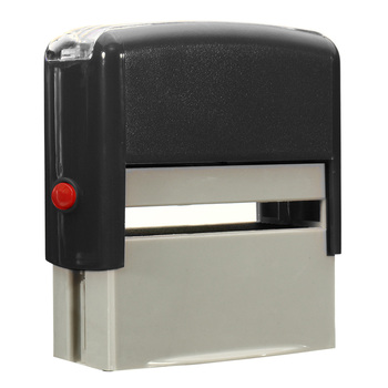 1 Pcs Custom Personalised Self Inking Rubber Stamp Kit Business Name Address DIY GQ999 1