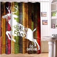 H-P043 wood and deer #10 Custom Shower Curtain Bathroom decor various sizes Free Shipping MORE SIZE SQ0826@H043#