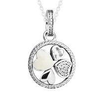 Necklace Pendant Jewelry 925 Sterling Silver Hearts of Love Necklaces for Women collares de moda kolye bijoux femme Wholesale