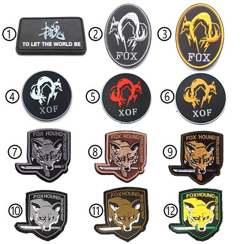 XOF Foxhound Negro Metal Gear Solid PVC Airsoft Patch