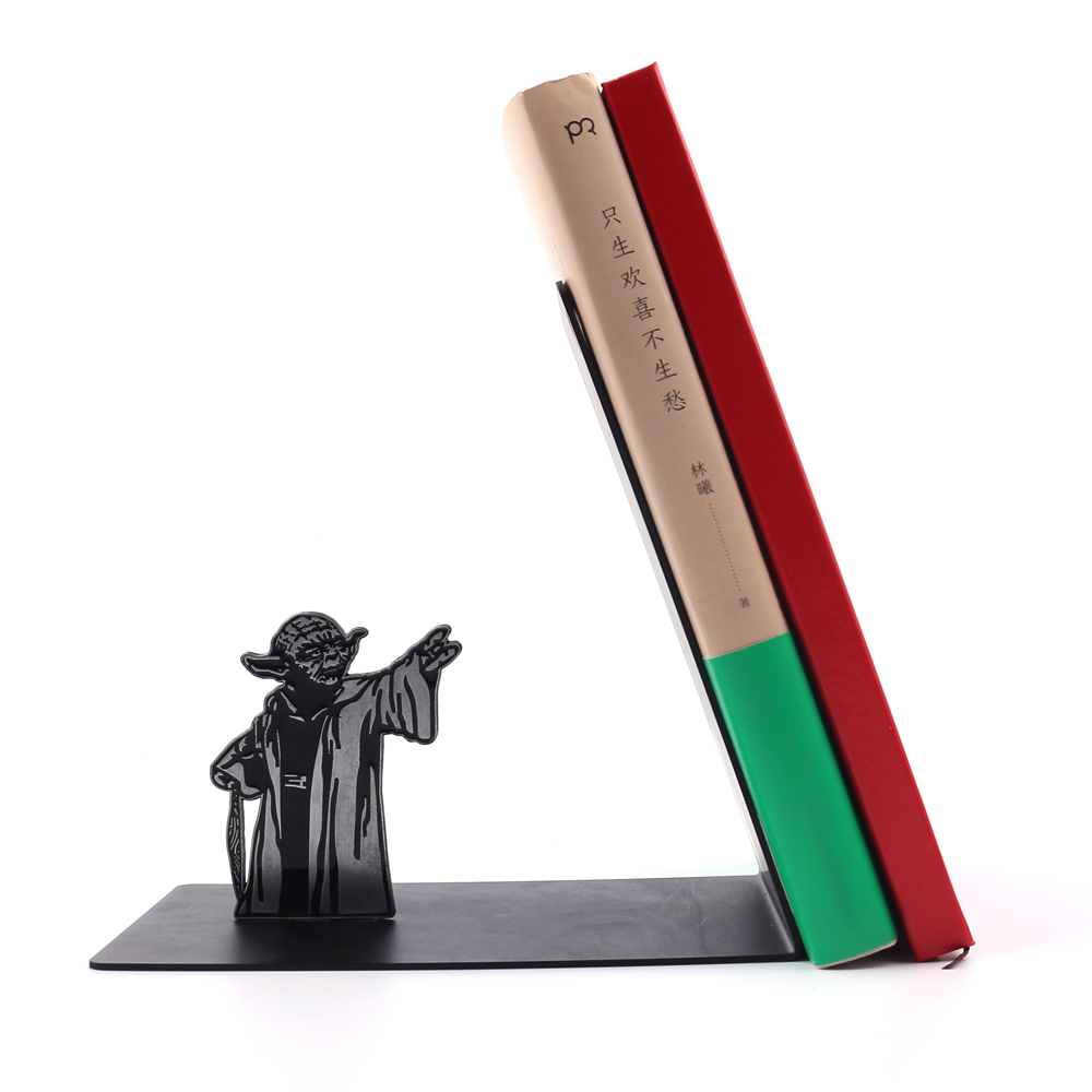 Drop Shipping Yoda Master Bookshelf Kits Stainless Steel High Quality Free Shipping Holders Gifts