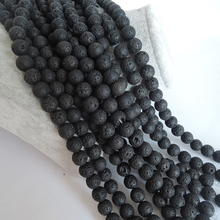 one lot 2 strands total 74 cm ,top fashion LAVA stone beads ,6 -16 MM round shape ,LAVA STONES IN STRAND,DIY BEADS