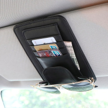 Универсальный автомобильный козырек Органайзер держатель из искусственной кожи чехол для карт очки автомобильные аксессуары солнцезащитный козырек Organizador автомобильный стиль