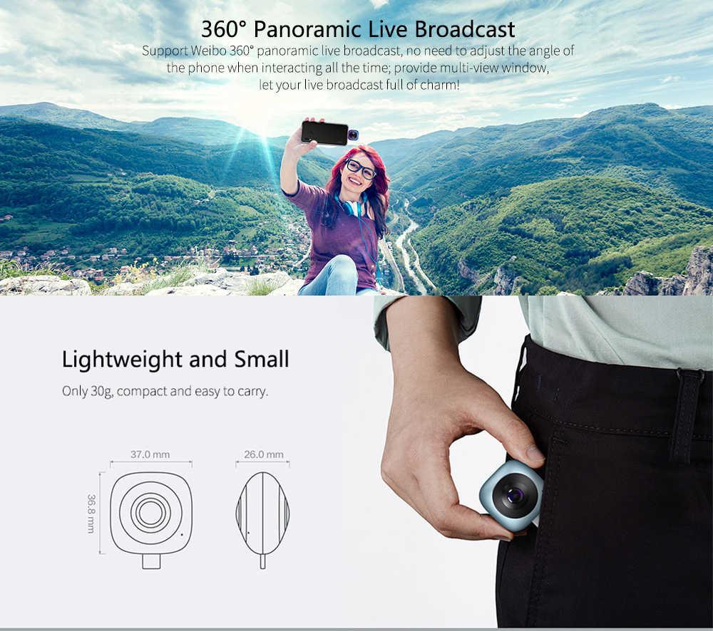 HUAWEI CV60 Cool Edition Camera 360 Camera Panoramic 5K Photo 2K Full HD Video Dual 13MP Fisheye Phone Camera Lens Android 6.0
