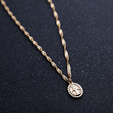European And American Fashion Charm Jesus Christ Religious Pendant Necklace Women Alloy Jesus Avatar Necklace Jewelry Gifts стоимость