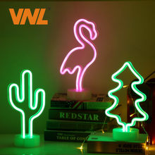 VNL Led Neon Light LED Night Light For Home Bedroom Festival Indoor Decor Illumination Atmosphere Lighting BAR PUB Club Decor(China)