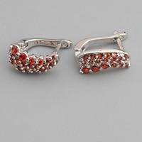 Flawless Red Garnet 2 2mm Semi Precious Silver Cool For Womens Earrings ED0714