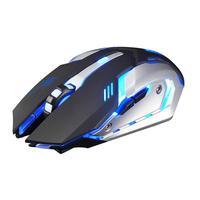 Хорошая X7 7 цветов светлая Бесшумная 6 кнопок перезаряжаемая Беспроводная оптическая игровая мышь