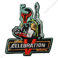 """4"""" Star Wars Celebration V Exclusive BOBA FETT TV Movie Embroidered IRON ON and SEW ON Cool Biker Vest Patch Military Badge"""