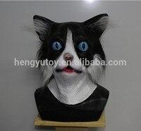 Qualidade Deluxe Masquerade Adulto Tamanho Realista Máscara De Látex Gato