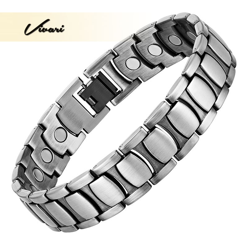 Vivari Fashion Magnetic Male Bracelets Bangles Men Powerful Alloy Bio Energy Healthy Wristband Pulseras Hombre Jewelry amezcua energy bio disc 2 bio energy disc healthy water maker increasing nutrition cell detoxification bio quantum liquid glass