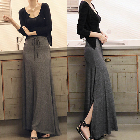 967d507082 Estilo de verano Mujer Plus Tamaño 4XL Elástico de Cintura Alta Maxi larga  Falda de Algodón