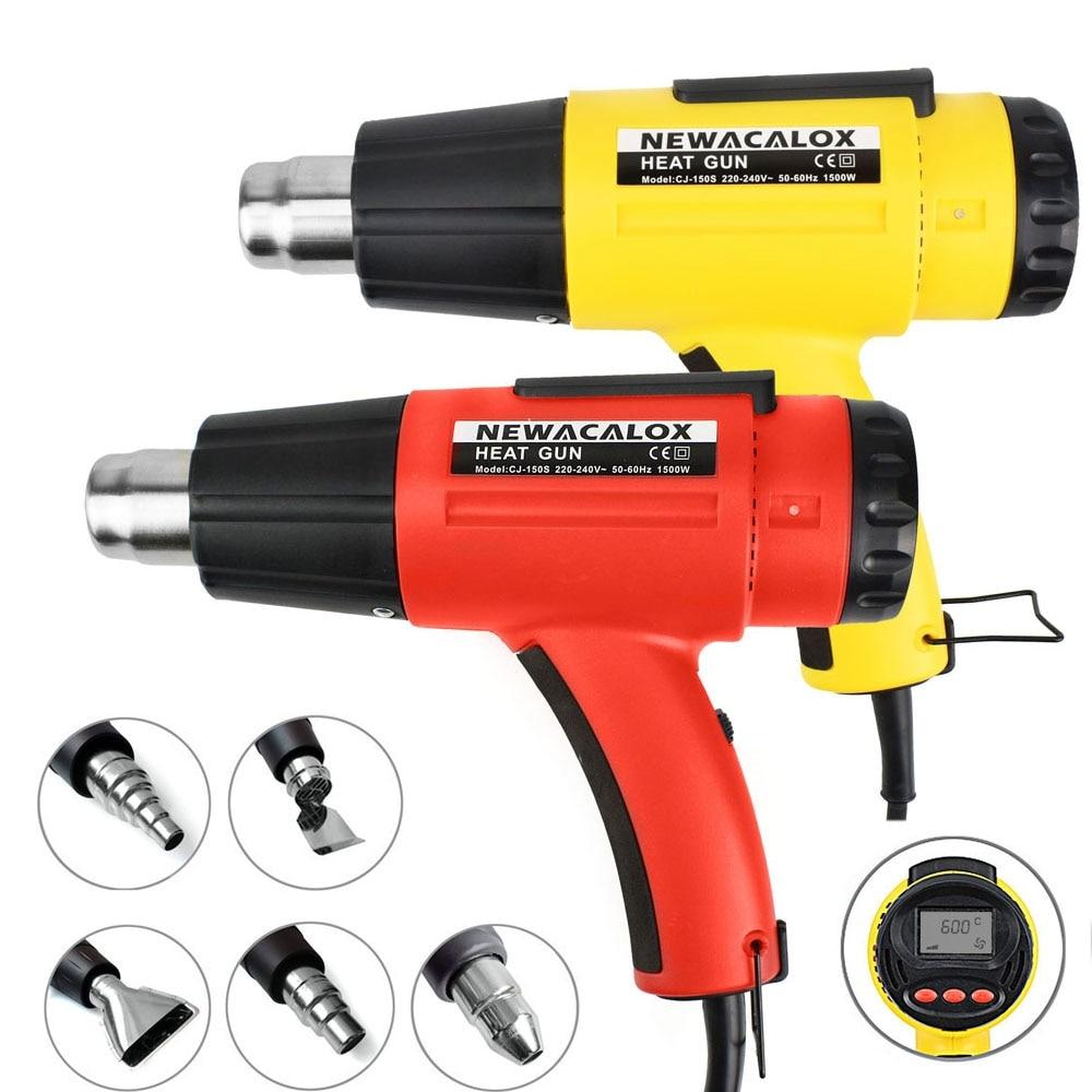 NEWACALOX 1500W digitaalne soojuspüstol 220V EL-i elektriline - Elektrilised tööriistad - Foto 6