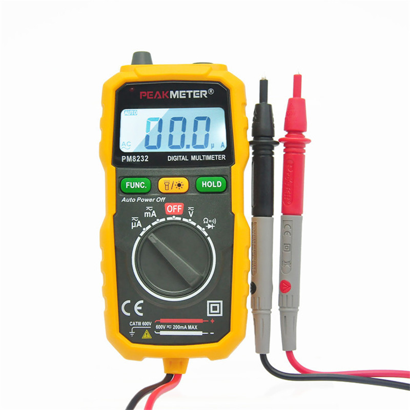 Electric Current Tester : Free shipping handhold digital multimeter current