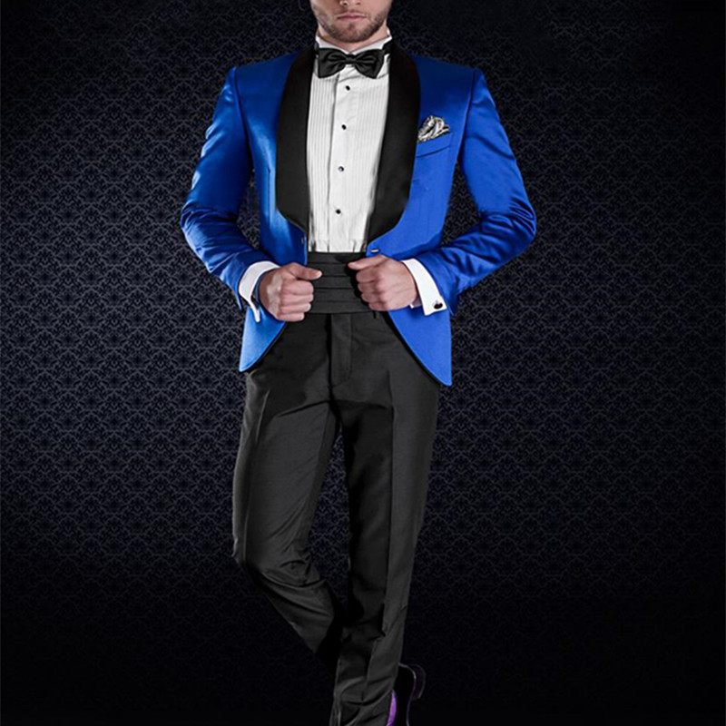 NoEnName_Null 2017 Classic 1 Button wedding Suits For Men Clothes Groom Tuxedos Groomsman Suit Custom Made Man Suit (jacket+pan