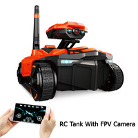 RC Tank YD 211 Wifi FPV 0.3MP Camera App Remote Control Toy Phone Controlled Robot Toys