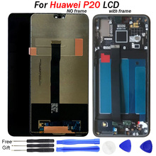 купить For Huawei P20 LCD Display Touch Screen Digitizer Assembly EML L29 L22 L09 AL00 LCD With Frame Mobile phone LCD Replacement tool по цене 2402.33 рублей