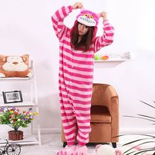 Christmas Sleepsuit Cheshire Cat Pajamas Adult Onesie Animal Rompers Womens Jumpsuit Cartoon Cosplay Costumes Pyjama