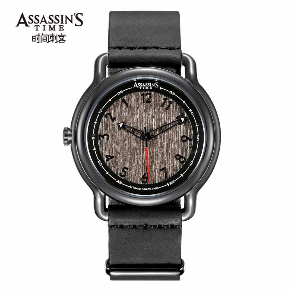 Assassin's tijd heren horloges topmerk luxe quartz horloges zwart - Herenhorloges - Foto 1