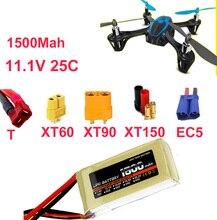 Alta taxa de bateria LIPO 3 s 25c 11.1 v 1500 mah li-bateria li-poly 25C drone aircraft baixa resistência fpv bateria recarregável