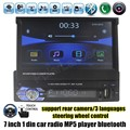 1 Din 7 Inch Car Stereo Audio radio MP5 MP4 Player USB/TF/FM/AUX Bluetooth steering wheel control touch screen rear camera input