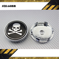 4 pcs Punisher crânio logotipo carro do centro de roda Hub Cap emblema decalque emblema símbolo adesivo 60 mm