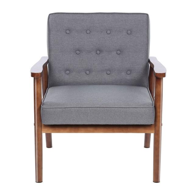 Hohe Qualität Holz Armlehne Wohnzimmer Stuhl Stoff Sofa Möbel Moderne  Gepolstert Freizeit