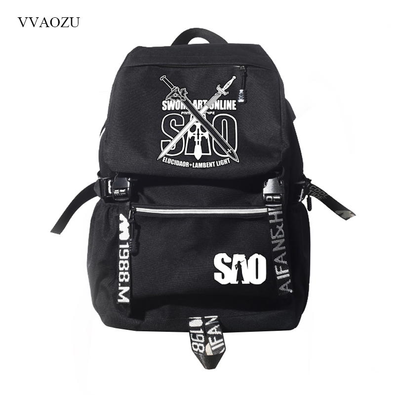 Épée Art en ligne SAO sacs d'école pour hommes femmes sacoche pour ordinateur portable USB charge sac à dos sac à dos pour étudiants adolescents sac de voyage