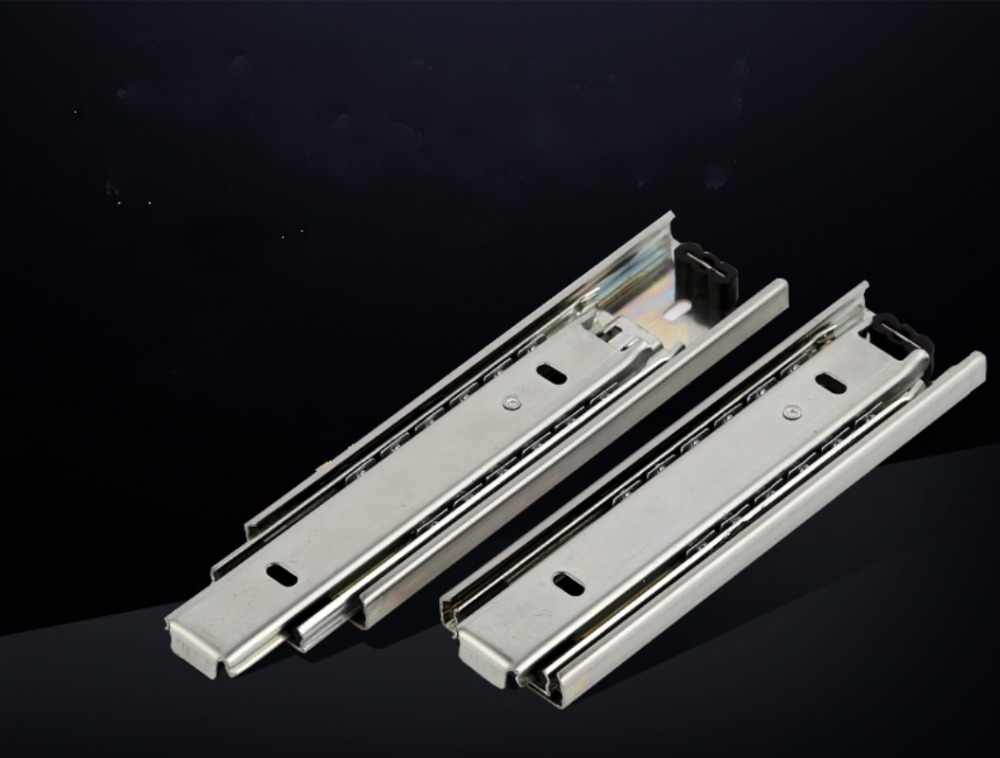 Free shipping Drawer track, drawer slide, three rail drawer, guide rail, slide rail, furniture hardware fittings, slipway стоимость