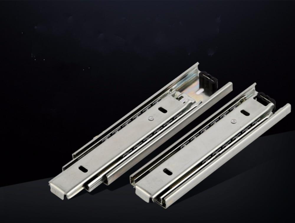 Free shipping Drawer track, drawer slide, three rail drawer, guide rail, slide rail, furniture hardware fittings, slipway ben