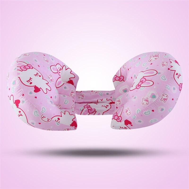 Многофункциональные u-образные подушки для беременных женщин поддержка живота боковые шпалы Мягкая Подушка для беременных хлопок - Цвет: 4