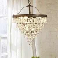 Роскошная хрустальная Подвесная лампа Современная Подвесная лампа абажур для столовой/фойе/домашнего освещения крепления для бумажных фо