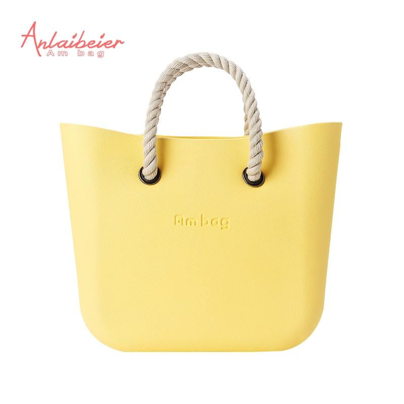 ФОТО ANLAIBEIER Mini AMbag women handbag Obag Style  waterproof EVA bag body with Rope leathr handlewomen's EVA DIY bag